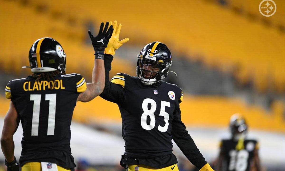 Pittsburgh Steelers WR Chase Claypool and TE Eric Ebron