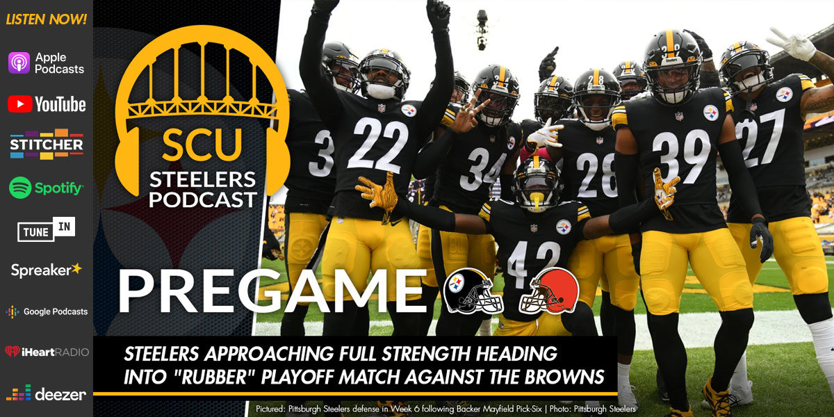 "Steelers approaching full strength heading into ""rubber"" playoff match against the Browns"