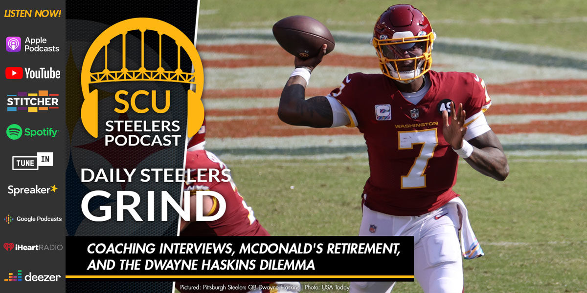 Coaching interviews, McDonald's retirement, and the Dwayne Haskins dilemma