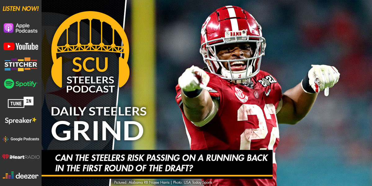 Can the Steelers risk passing on a running back in the first round of the draft?
