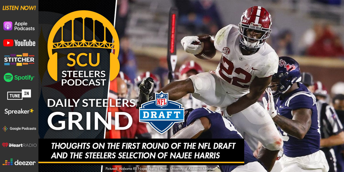 Thoughts on the first round of the NFL Draft and the Steelers selection of Najee Harris
