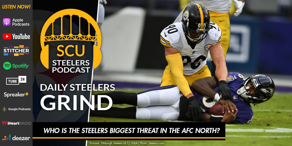Who is the Steelers biggest threat in the AFC North?