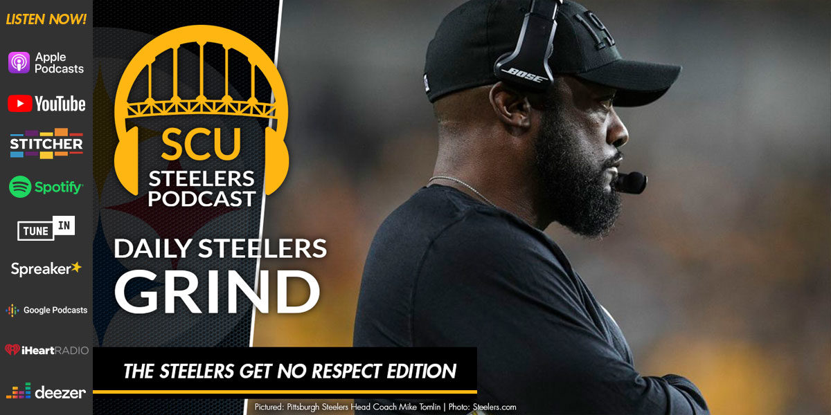 The Steelers get no respect edition