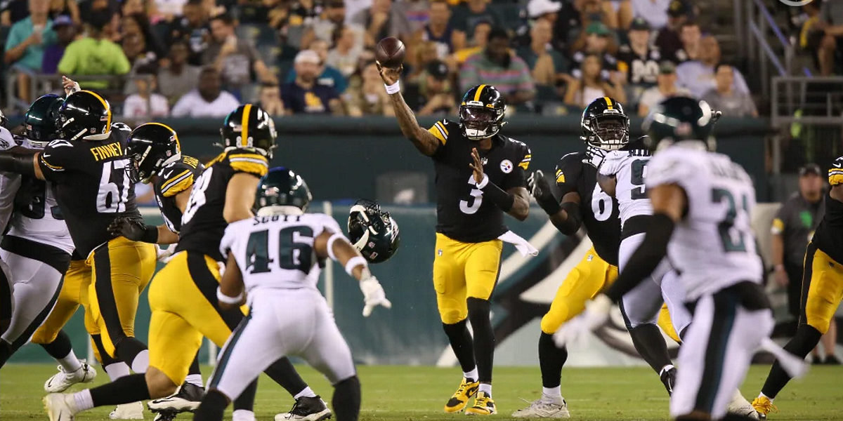Dwayne Haskins of the Pittsburgh Steelers vs Eagles