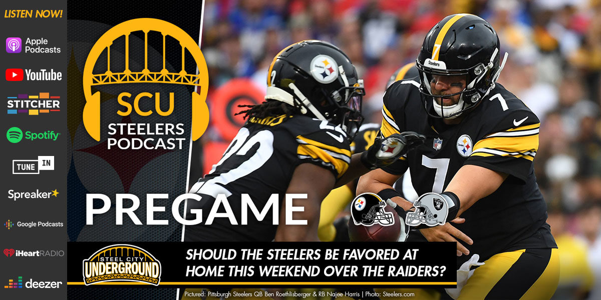 Should the Steelers be favored at home this weekend over the Raiders?