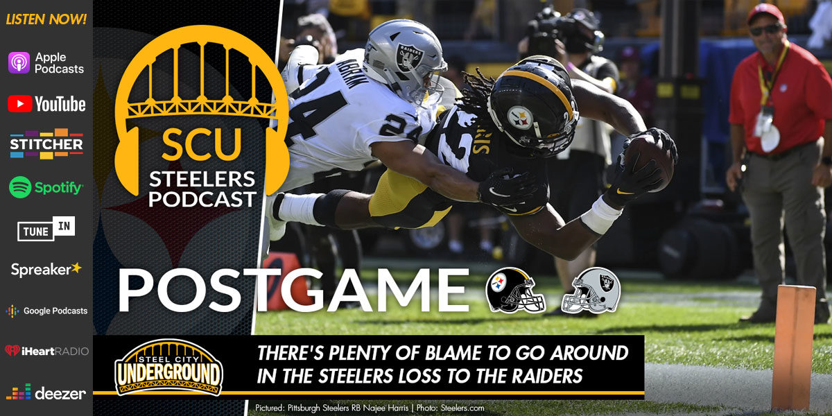 There's plenty of blame to go around in the Steelers loss to the Raiders
