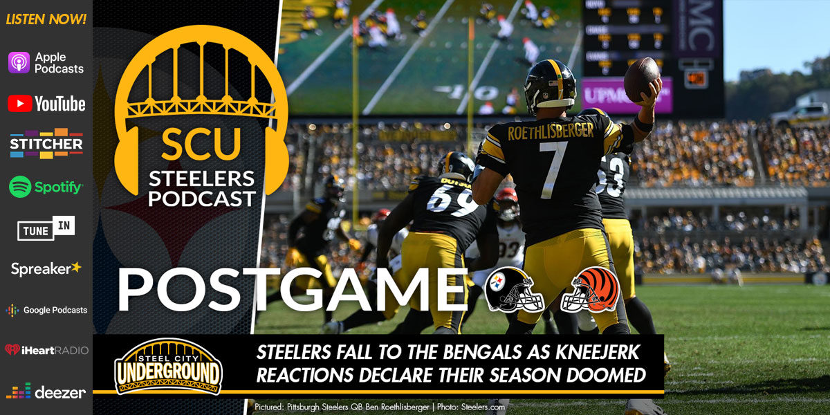 Steelers fall to the Bengals as kneejerk reactions declare their season doomed