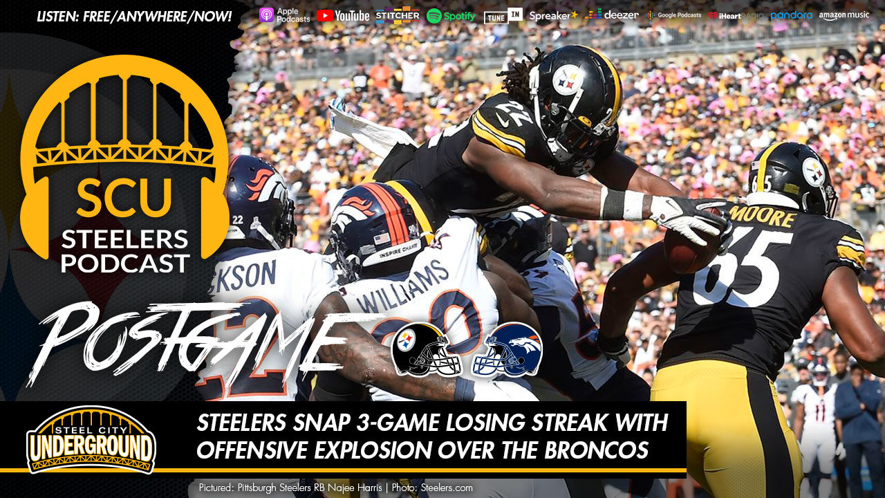 Steelers snap 3-game losing streak with offensive explosion over the Broncos